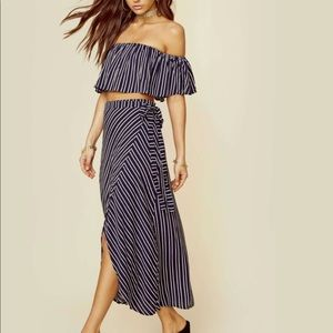 🦋Bardot matching set crop top and skirt worn once
